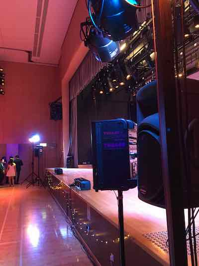 Joint School Chrismtas Ball Rencontre PA Lighting Rental